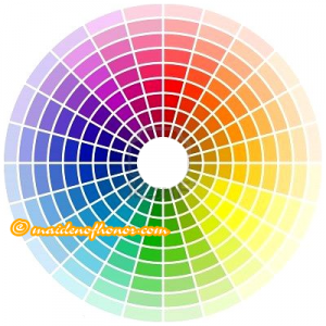 Maid of Honor Wedding Color Theme - Color Wheel